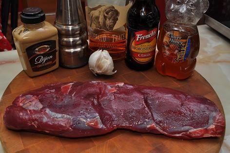 Grilled Elk Steak, marinade