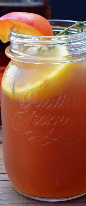 Bourbon Peach Sweet Tea - Host The Toast