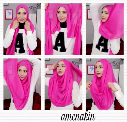 Hijab/hoojab tutorial by Amenakin / Pearl Daisy