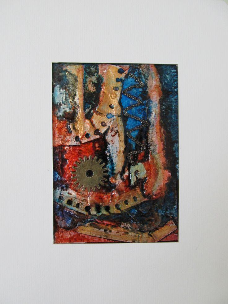 Nicole Garon, techniques mixtes, petits formats, 3,5x5 po