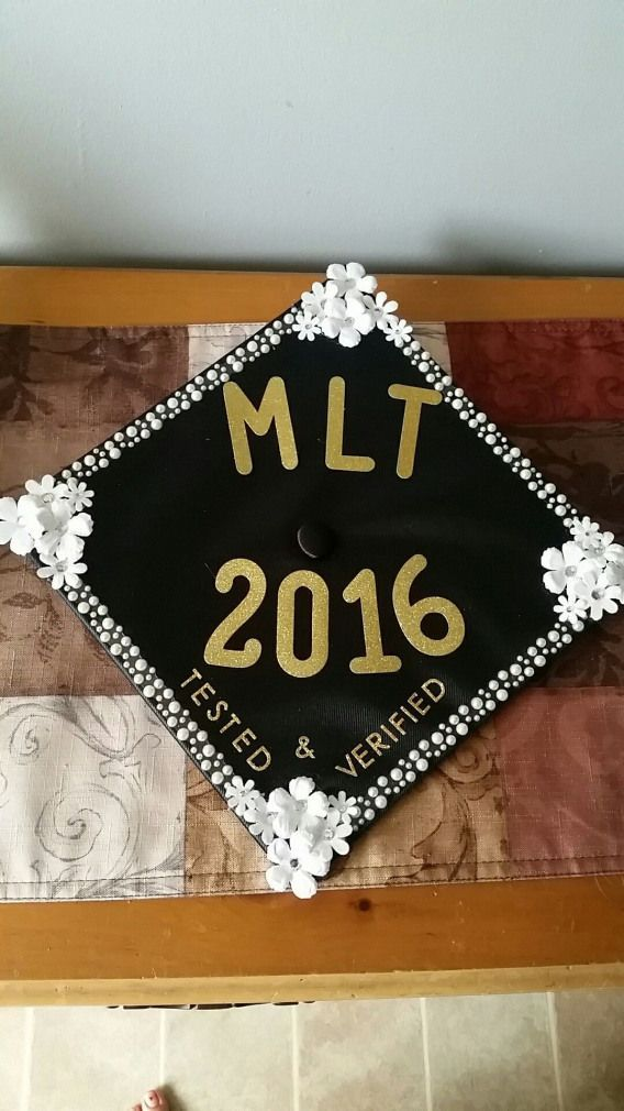 MLT graduation cap #collegegraduation #college #graduation #humor - #college