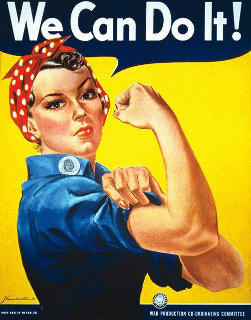 """Rosie the Riveter"" Poster, 1943 