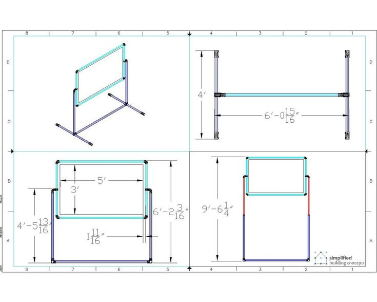 Instructions on how to build a portable projector screen stand. #portableprojectorscreen