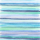 Watercolor horizontal lines
