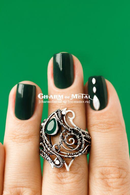 """Купить """"Legolas"""" Серебряное кольцо - украшение, подарок девушке, подарок женщине, серебро, wire, wrap"""