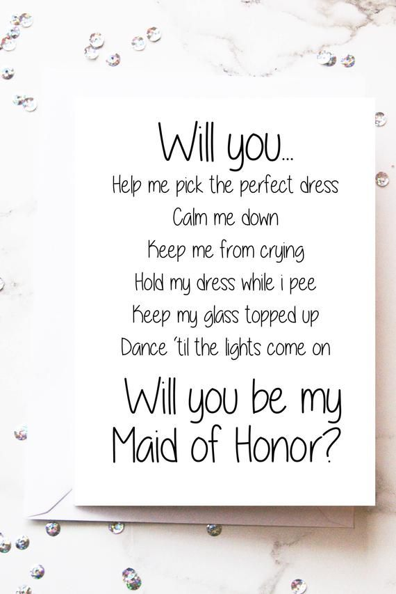 photograph relating to Will You Be My Maid of Honor Printable called Printable Will your self be my Maid of Honor Card Maid Honor