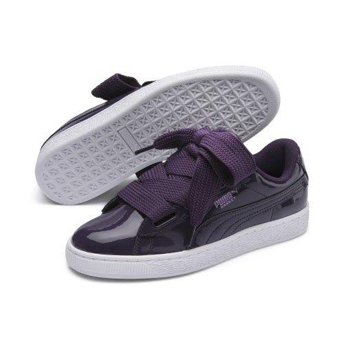 dda9d547 Puma Basket Heart Patent Women's Sneakers Women, Size: 9, Indigo ...