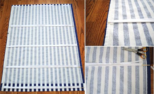Creative in Chicago: a decorating blog: How to make a roman blind from a cellular blind