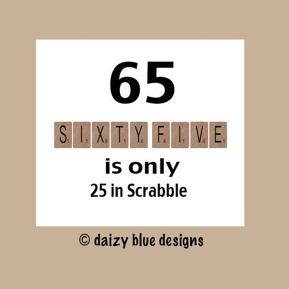 65th Birthday Card Milestone By DaizyBlueDesigns 400