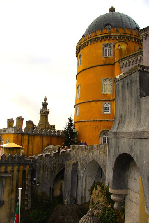 The fascinating castle in Sintra Portugal that blends so many styles it looks like it is made of spare parts.