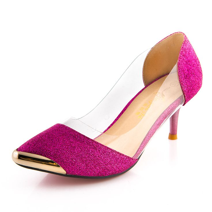 Hot sale! 2015 New Summer Women Shoes High Heels Metal Head Pointed Sexy Women Pumps party Wedding shoes For Women US Size4-11