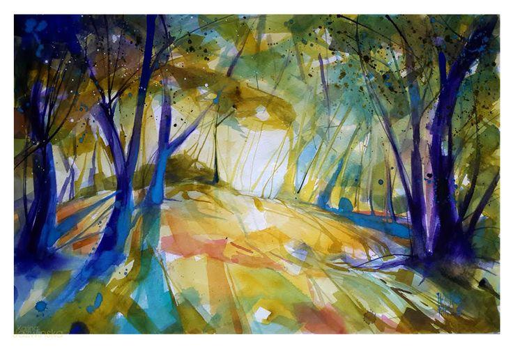 Park/ Watercolor/ format 40x60cm/ paper: Saunders/ QoR