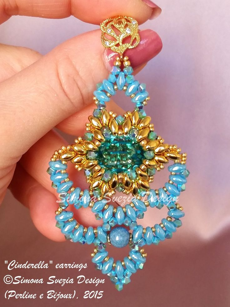 CINDERELLA earrings ©Simona Svezia Design (Perline e Bijoux), 2015 Tutorial available on my Etsy shop: https://www.etsy.com/it/shop/PerlineeBijoux