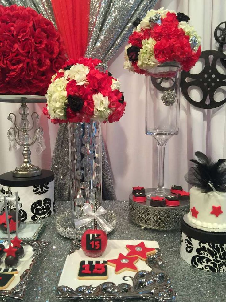 Glamorous Hollywood Quinceañera birthday party! See more party ideas at CatchMyParty.com!