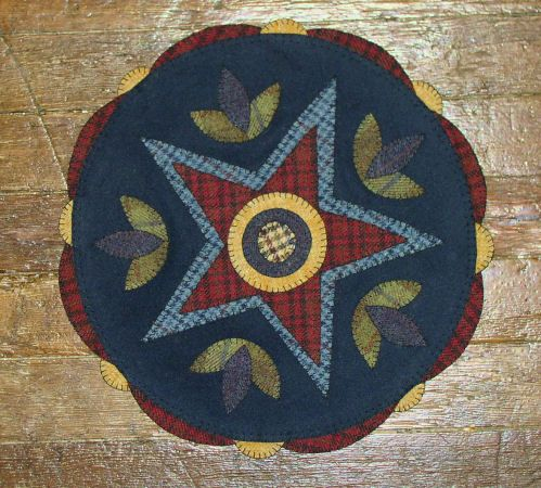 Penny Rug Patterns Kits And Supplies The Woolen Needle Original Star Design
