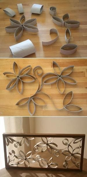 Toilet Paper Roll Art Crafts Can you believe this is made of toilet paper rolls? by gabrielle