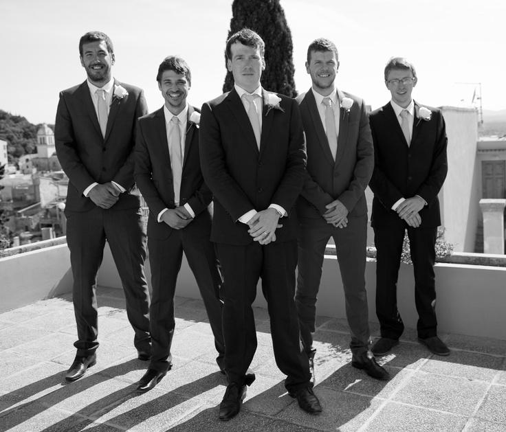 The Boys #wedding #ushers #majorca #destination #warm #smart