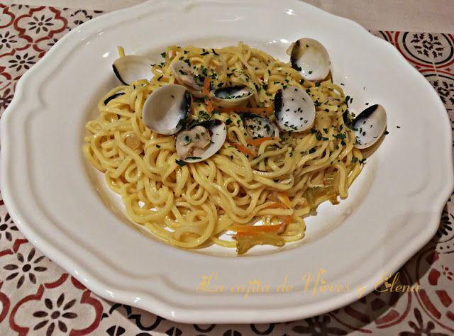 La cajita de Nieves y Elena: Spaghetti mit Vongole (Espaguetis con almejas) by ...