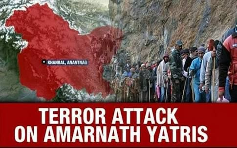 The Amarnath Yatra attack on the 10th of July, 2017, left 7 pilgrims dead, 15 others were injured. Terrorists fired on a bus carrying the pilgrims.