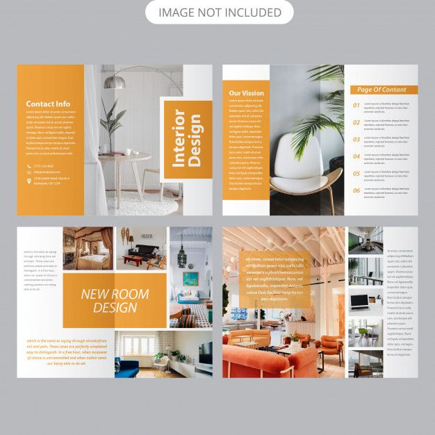 Interior Brochure Template Interior Brochures Brochure Design Layout Page Layout Design