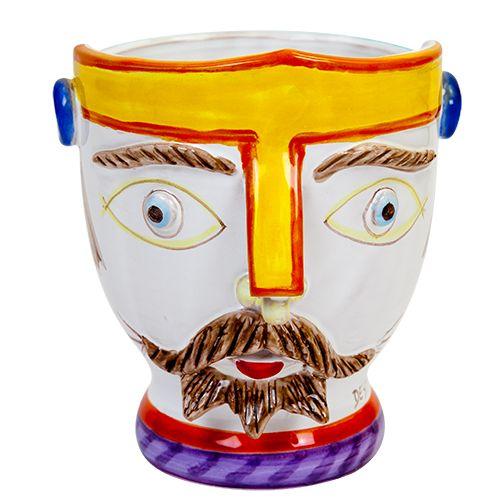 Ceramiche De Simone - Kings & Kings's Head - Plant Pot - TP189 - Portapianta