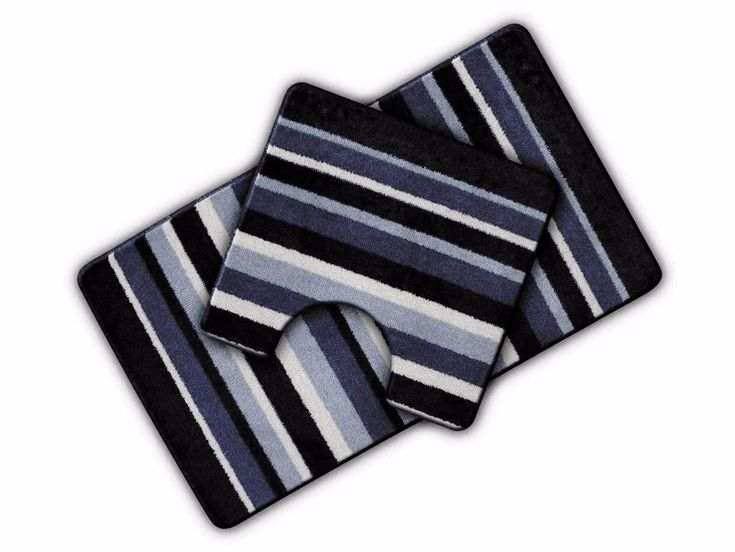 2 Piece Stripe Bathroom Mat Set. Luxury Bathroom Set Featuring a Wonderful Bright & Vibrant Stripe Design. No more slipping over in the bath with these extra durable bath mat sets. Bath Mat - 50cm x 80cm (approx). | eBay!
