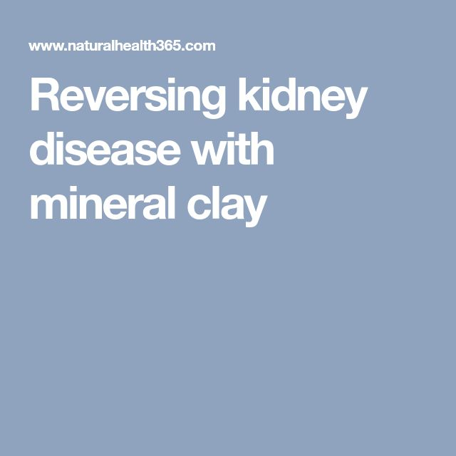 How does clay help reverse kidney disease?  Clay minerals actually help to lower the phosphate levels in the body. In a series of laboratory trials and cell culture experiments, it was proven that the high phosphate-binding capacity of the clay minerals was not only as effective as traditional pharmaceutical methods, but was better tolerated.