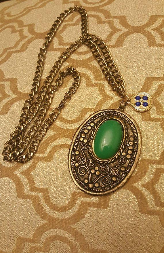 Garden Medallion Necklace long chain link necklace bohemian