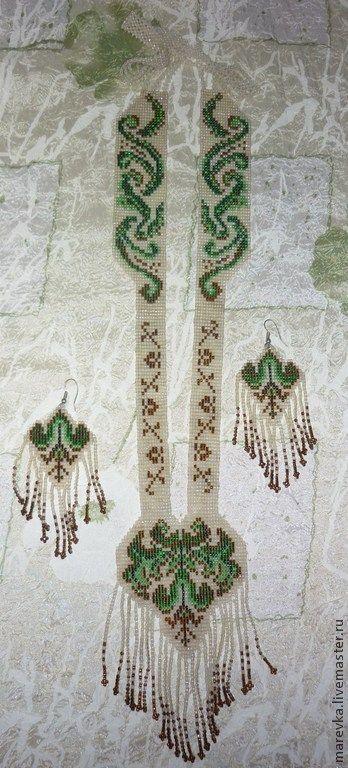 """Купить Гайтан """"Русский стиль"""" - народная традиция, оберег, авторские украшения, Бисероплетение, бисер"""