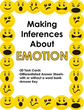 students must make inferences about a character's emotions