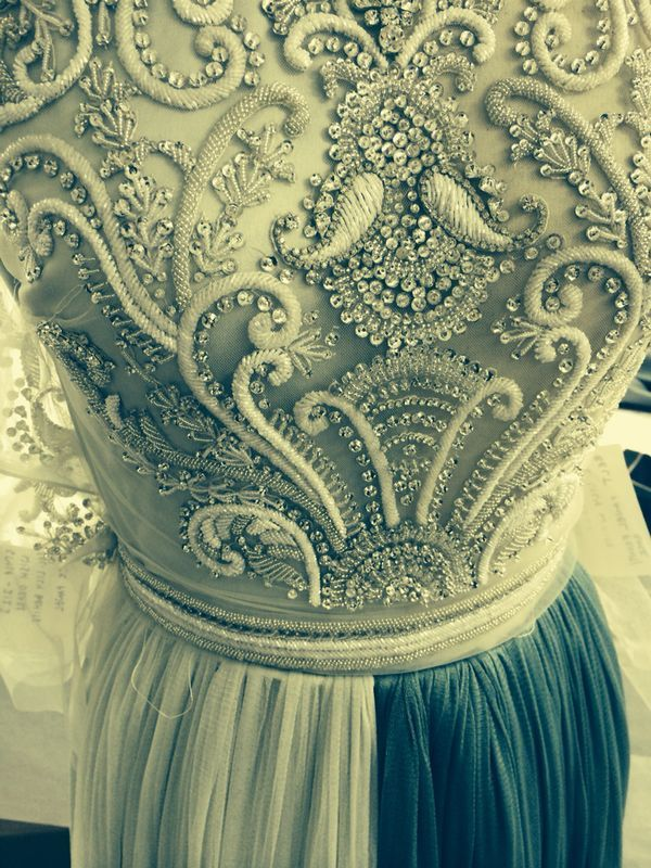 Close up: The Wish gown from the Catherine Deane AW14 collection #AW14 #embellishment