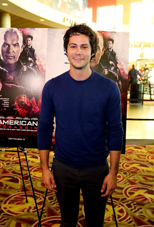 Dylan O'Brien poses for the cameras at the 'American Assassin' Minneapolis / St. Paul screening at AMC Theaters Rosedale on September 8, 2017 in Minneapolis, Minnesota.