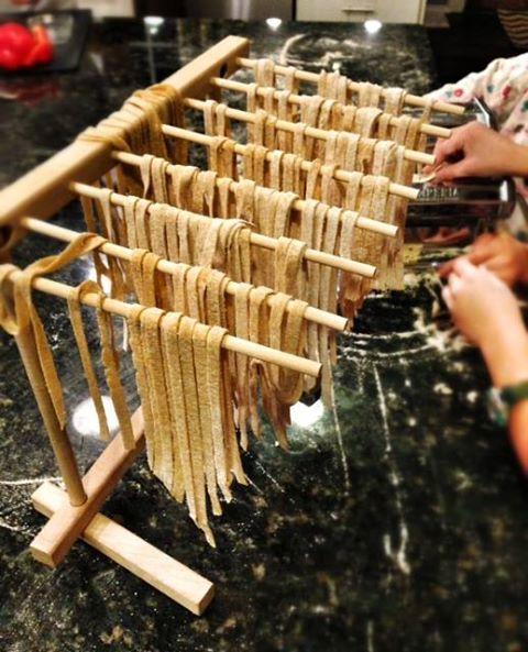 Séchage de pâtes fraiches