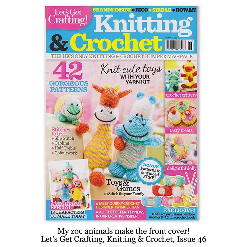 Let's Get Crafting issue 46 - Amanda Berry's zoo animals