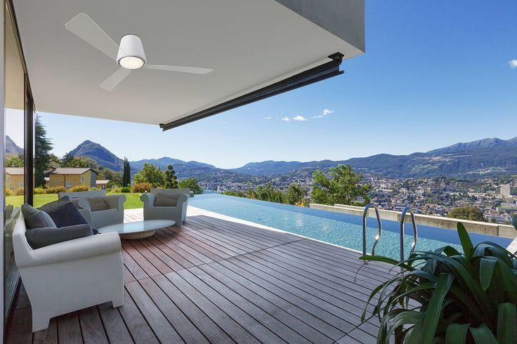 Ceiling Fan GARBI by Jordi Blasi  #terrace #landscape #fan #pool