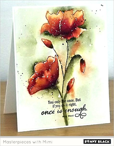 "Visit the Penny Black blog for a full photo tutorial on creating this card by Micheline ""Mimi"" Jourdain:"