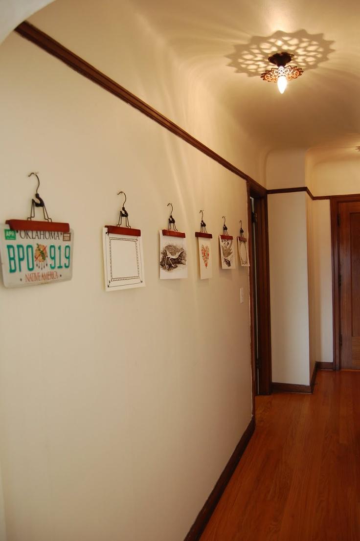 Cool Idea To Hang Artwork