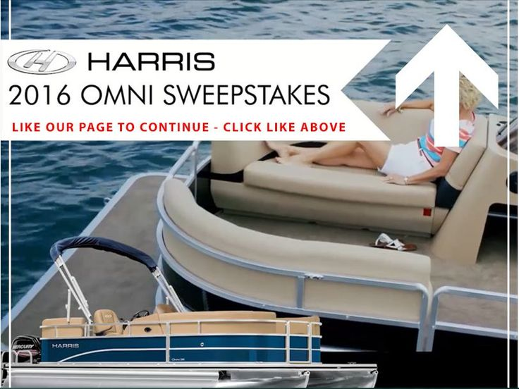 Enter the 2016 Harris Boats Omni Sweepstakes for a chance to win a 2016 Harris Omni 200 Pontoon Boat!