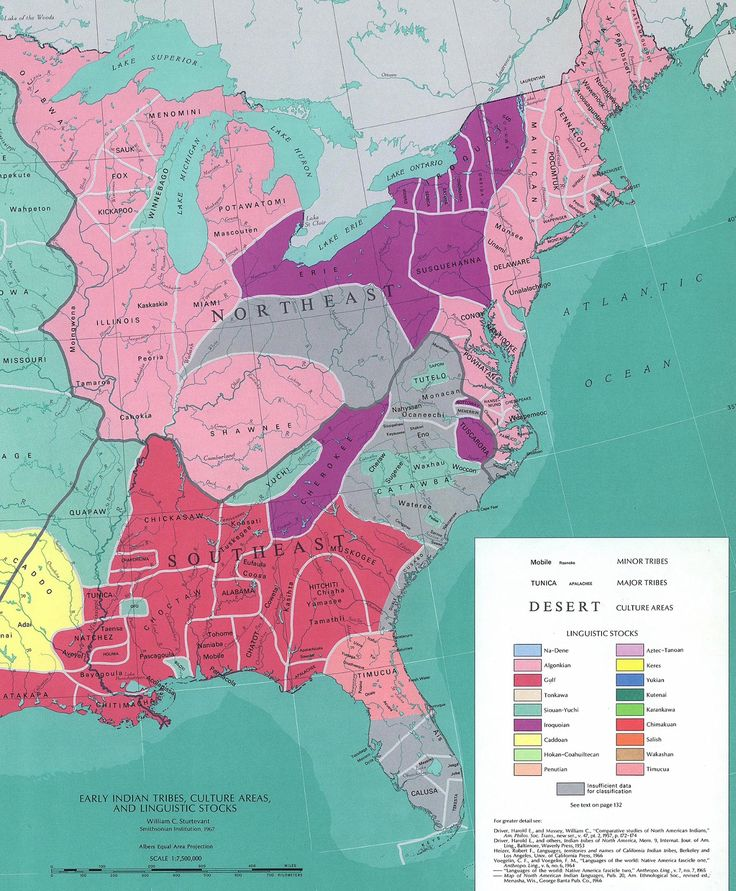 Native American Territories in eastern US during