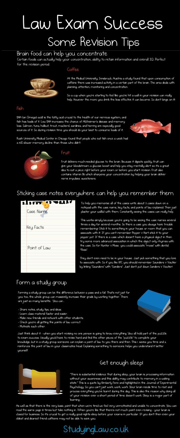 Law Exam Success Some Revision Tips [INFOGRAPHIC] #law#school