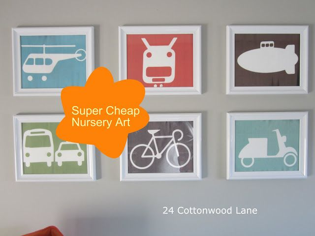 24 Cottonwood Lane: Super Cheap and Easy Art for the Nursery