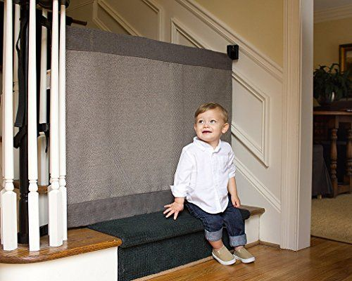 The Stair Barrier  WalltoBanister Signature BabyPet Gate Wide  Modern Grey * You can find more details by visiting the image link. (This is an affiliate link and I receive a commission for the sales)