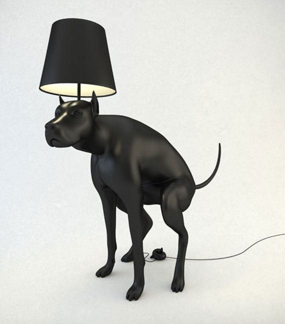 You Gonna Pick That Up?: Pooping Dog Lamp