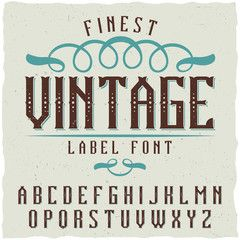 Vintage label font. Good to use in any classic label design.