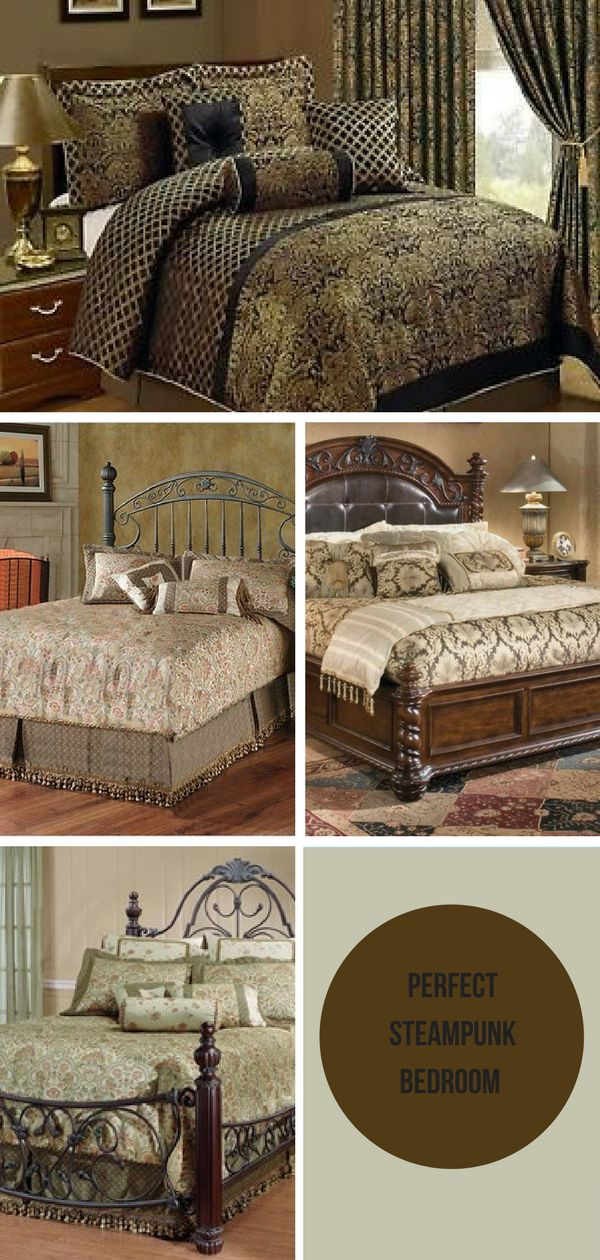 Cool Steampunk Bedroom Interior Decorating Design Ideas ...