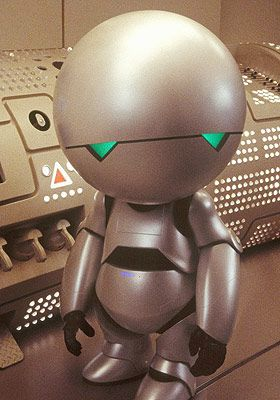"""""""Life? Don't talk to me about life"""" - Marvin the Paranoid Android, The Hitchhiker's Guide to the Galaxy"""