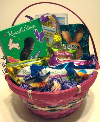 11 best easter gift baskets images on pinterest gift tags russell stover easter basket gift basket filled holiday adds negle Choice Image