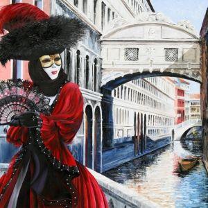 'Scarlet Masquerade' by Graham Denison. Original available