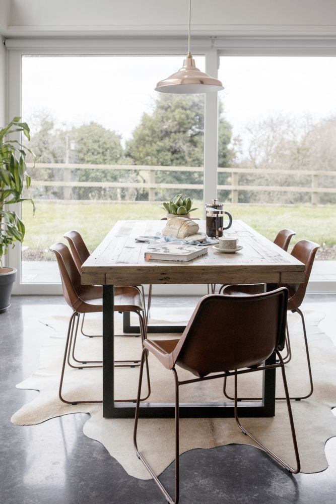 Kildare New Build Industrial Dining Chairs Wooden Table Chairs