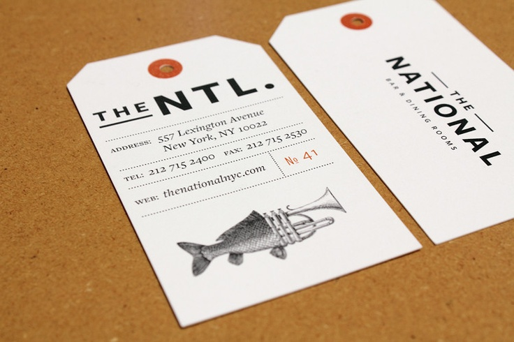 The National received the James Beard Foundation's award for best restaurant graphics